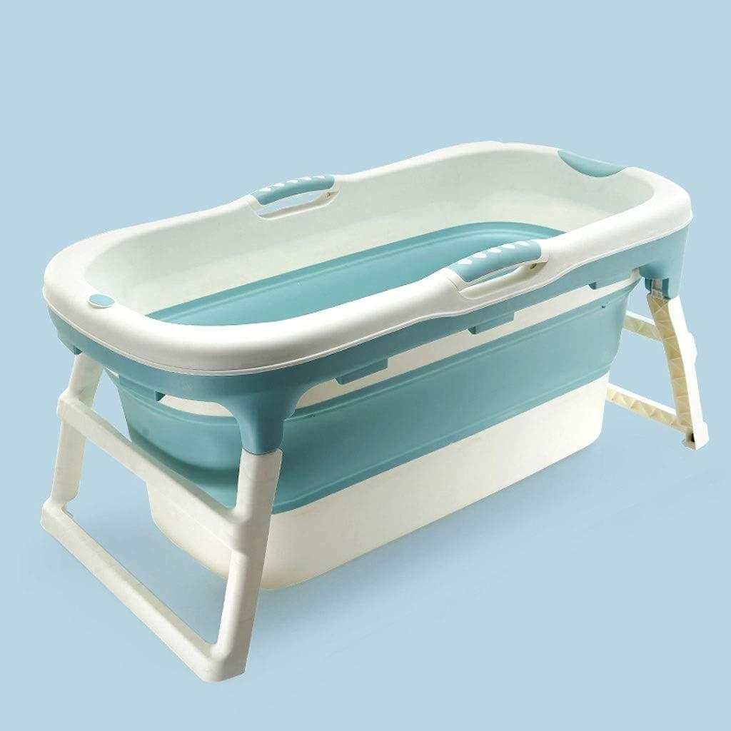Polypropylen DONG LI TONG Faltende Badewanne f/ür Kind Doppelablaufloch Nicht aufblasbare Plastikbadewanne TPE Erwachsene freistehend die Badewanne nach Hause badet Farbe : Blau
