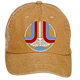 Qikdg Custom Adjustable The Last Starfighter Baseball Caps-Washed 100% Cotton Brown