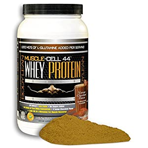 #1 Undenatured 100% Grass Fed Whey Protein Powder | Low Carb Low Fat | High Branched Chain Amino Acids and 1000 mg added L-Glutamine | Muscle-Cell 44 | Chocolate X'treme Flavor | 2 Pounds