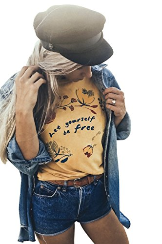 Life Clothing Co. Womens Let Yourself Be Free Vintage Tee Dusty Tan X-Large 1 Vintage Inspired Tee