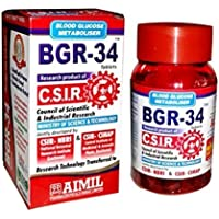 600 BGR-34 Tablets (6 Packs) 100% Natural Herbal Blood Glucose Metaboliser Research Product of C.S.I.R. by…