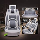 CAR Car Seat Cushion Four Seasons Universal Seat Cover Breathable And Comfortable A Set Of Five , gray