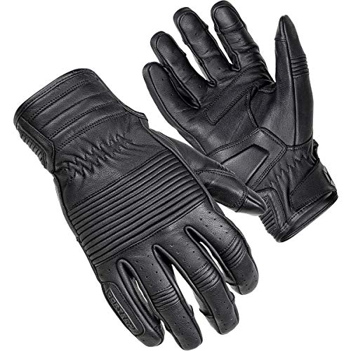 Cortech Associate Leather Gloves (Medium) (Black) (Cortech Motorcycle Gloves)