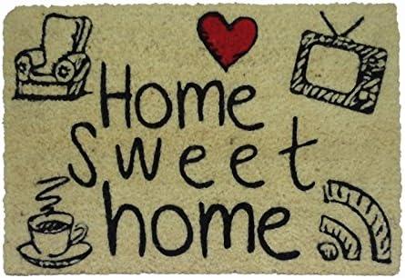 koko doormats Felpudo para Entrada de Casa Original y Divertido/Fibra Natural de Coco con Base de PVC, 40x60 cm (Home Sweet Home'18)