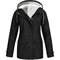 TIMEMEAN Winter Women Autumn Casual Daily Coats Women Solid Rain Jacket Outdoor Plus Waterproof Hooded Raincoat Windproof