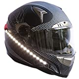 LightRider for Motorcycle Helmets — 360° Light with 'Power Protected' Battery