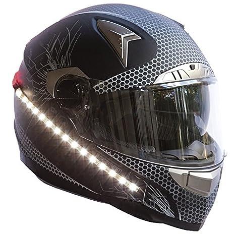 Amazon.com: LightRiderTM - Casco de motocicleta con luz de ...