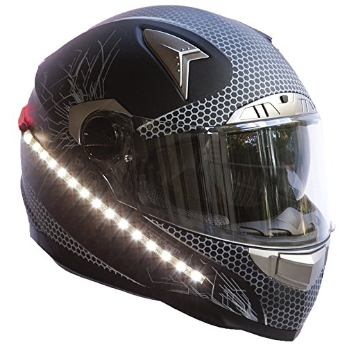 LightRider™ for Motorcycle Helmets — 360° Light with 'Power Protected' Battery