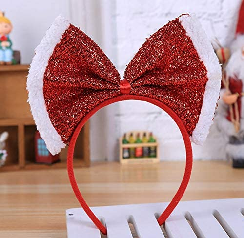 Bright Red Ears And Tail With Big Red Snowflake Bow Fancy Dress Set One Size