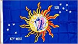 """Conch Republic """"Key West"""" Flag - 3 foot by 5 foot Polyester (NEW)"""