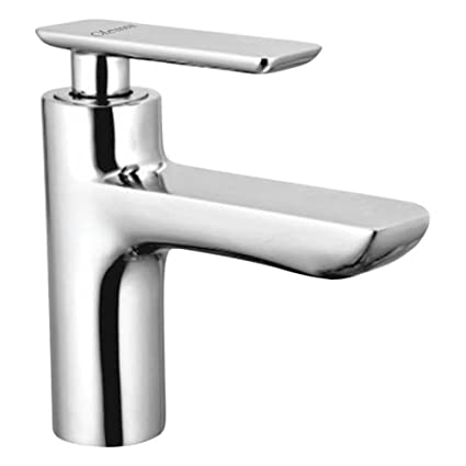 Oleanna Golf Brass Pillar Cock for Wash Basin and Sink Tap (Disc Fitting | Quarter Turn | Form Flow) Chrome