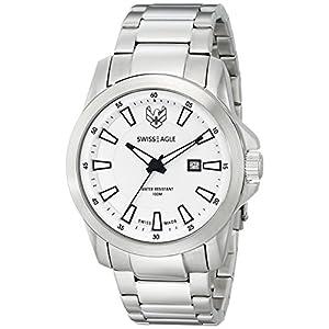 Swiss Eagle Men's SE-9056-22 Zermatt Analog Display Swiss Quartz Silver Watch