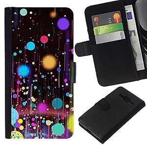 All Phone Most Case / Oferta Especial Cáscara Funda de cuero Monedero Cubierta de proteccion Caso / Wallet Case for Samsung Galaxy Core Prime // Planets Paint Spots Oil Art