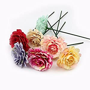 Artificial Flowers Heads in Bulk Wholesale for Crafts Silk Rose Fake Flowers for Party Festival Home Decor Wedding Decoration Scrapbooking DIY Gift Box Fake Flower 20pcs 5cm 94