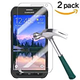 Image of TANTEK Anti-Glare 9H Tempered Glass Screen Protector for Samsung Galaxy S6 Active - 2 Pack