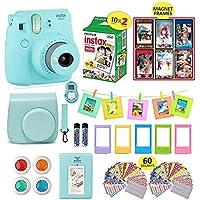 Fujifilm Instax Mini 9 Camera Bundle (Ice Blue) + Instant...