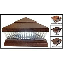 6 x 6 Premium PVC Vinyl Fence Copper Post Cap Solar Lights 5 White (Default) LEDs (PF87C)Finish: Copper (Default) Lens Type: Vertical-Lined Clear Lens (Default)