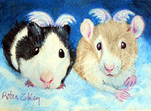 Custom Portrait, Guinea Pig and Fancy Pet Rat from your photos