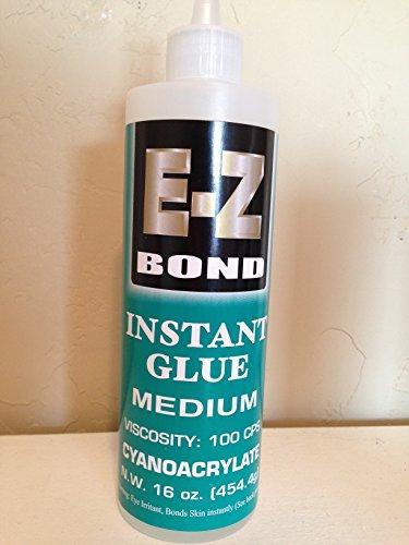 EZ Bond Premium Super Glue - 16 OZ - 100 CPS - Strongest bond on Market - Medium by EZ Bond