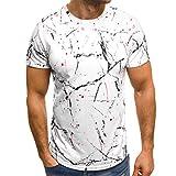 Winsummer Fashion T Shirts Mens Hipster Hip-Hop Premiun Tees Summer Slim Fit Print Short Sleeve T-Shirts White