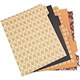 Wilson Jones Work Style Binder Tab Dividers , 3-Hole Punched, 5 Tab, 5 Decorative Designs per Set, Multi-Colored