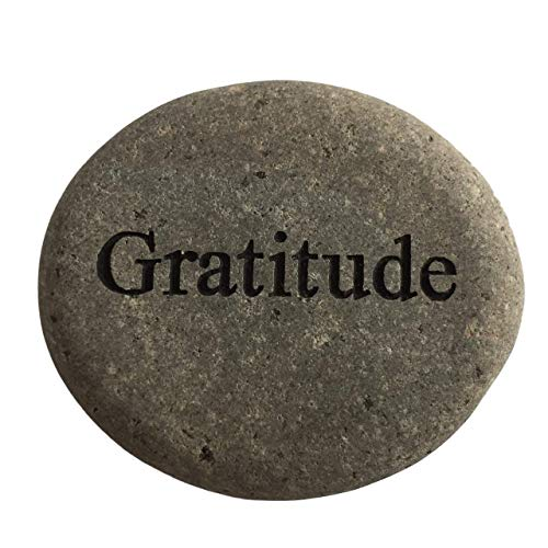Cheap Gratitude Engraved Stone River Rock- 2″ Gray