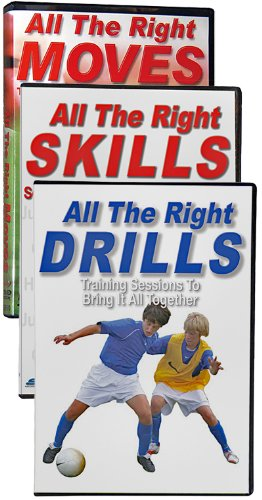 Soccer Learning Systems All The Right Moves/Skills/Drills Soccer 3 DVD Set