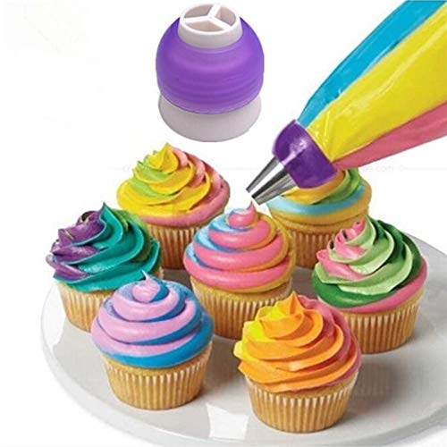 Three-color Pastry Cream Nozzle Converter Cake Decorating Tool