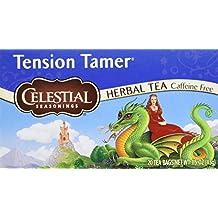 Pack of 6 x Celestial Seasonings Herbal Tea - Tension Tamer - Caffeine Free - 20 Bags