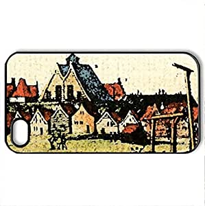 New Amsterdam 1653 - Case Cover for iPhone 4 and 4s (Watercolor style, Black)