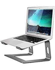"""Mountain Stand Aluminum Laptop Stand for Desk Compatible with MacBook Pro/Air Apple 12"""" 13"""" Notebook, Portable Holder Ergonomic Elevator Metal Riser for 10 to 15.6 inch PC Desktop Computer (GREY)"""