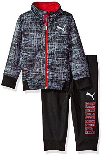 Athletic Kids Track Jacket - PUMA Little Boys' Track Set, Black, 6