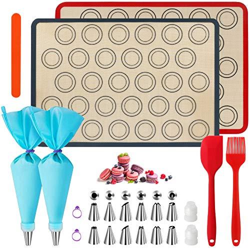 WeChip siliconen bakmat,macaron bakmat,decoreren tool bakken accessoire,bakbenodigdheden-anti-aanbak mat voor macaron…