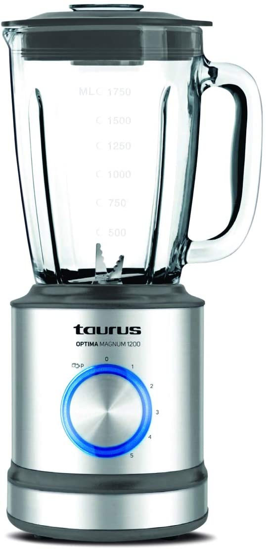 Taurus Optima Magnum Batidora de vaso, 1000 W, 1.5 L, acero inoxidable