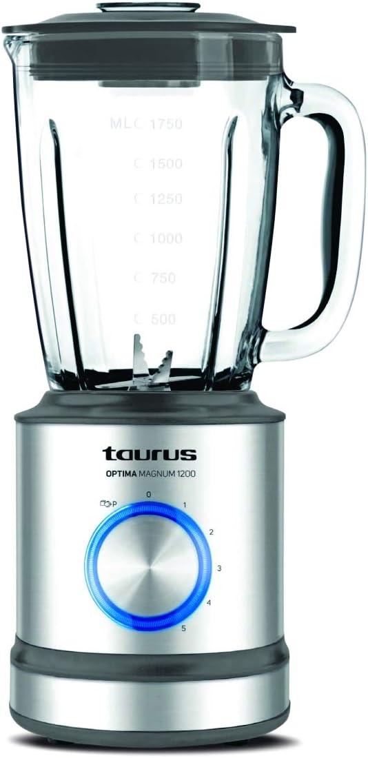 Taurus Optima Magnum Batidora de vaso, 1200 W, 1.75 L, acero
