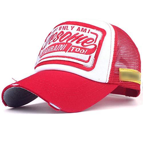 夏 野球のキャップ刺繍メッシュキャップ 男性女性の帽子 カジュアル ヒップホップのキャップ,C