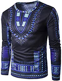 "<span class=""a-offscreen"">[Sponsored]</span>Unisex Long Sleeve African Dashiki Pattern Graphic Print T-Shirt"