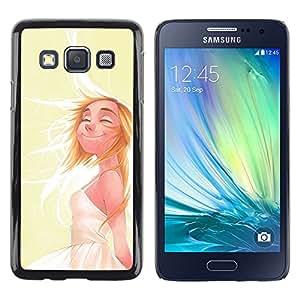 UPPERHAND Imagen de Estilo Rígido Protección Funda Carcasa Skin Tapa Cover Case Para Smartphone Samsung Galaxy A3 SM-A300 - feliz sol niña de cabellos blancos vida positiva