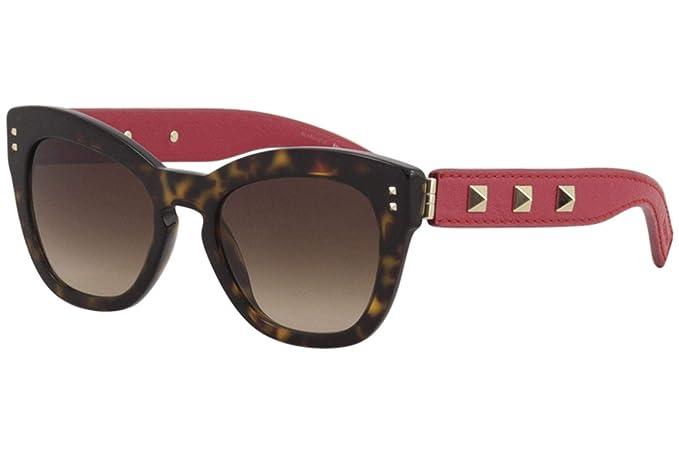 Valentino Gafas de Sol VA 4037 DARK HAVANA/BROWN SHADED ...