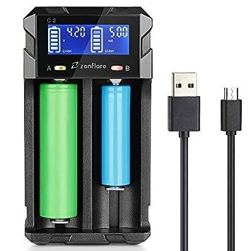 Amazon.com: Zanflare - Cargador de batería universal para ...