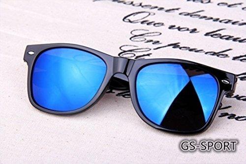 Mujer Hombre Sol Unidad 8871 Marco Azul 1 Gafas antireflectantes Retro LK Color Clásico y de para nqO0wWWtX