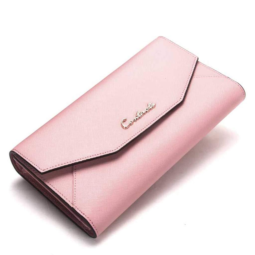 HGXC Women's Clutch Bag Long Student Zipper Wallet Large Capacity Wallet