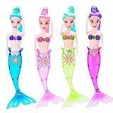 Waterproof LED Light Swimming Mermaid Doll Bath Spa Swimming Pool New Baby Kid Toy