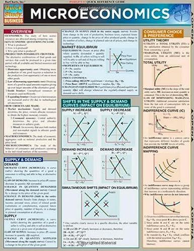 microeconomics quickstudy business 9781423208556 economics rh amazon com Scale of Economy in Microeconomics Microeconomics vs Macroeconomics