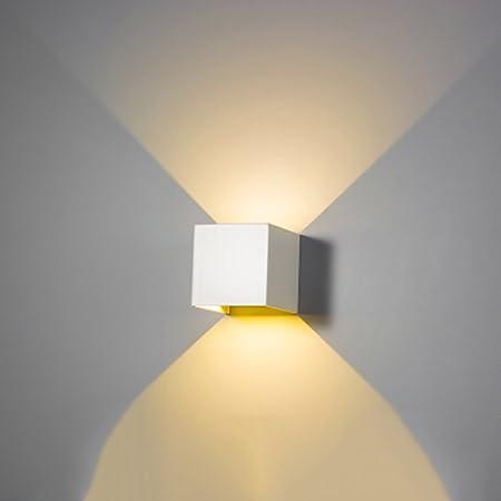 LIUGHFKJ Aplique-LED Pasillo/Escalera/TV Pared/Dormitorio/Pie de Cama Creativo Personalidad Aplique (Color : Blanco): Amazon.es: Hogar