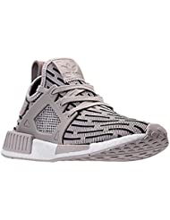 Adidas Womens NMD XR1 (Womens 9, Clear Granite/Clear Granite/Core Red)