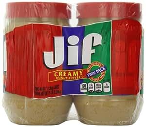 JIF Peanut Butter Creamy 40 oz Jar (2 Pack)