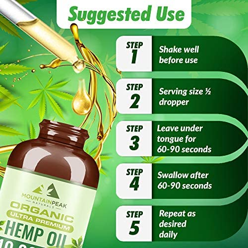 Hemp Oil 10,000mg Extra Strength - Stress & Anxiety Relief - Anti-Inflammatory & Joint Support - Immune System & Sleep Support - Omega 3, 6 & 9 Fatty Acids for Skin, Hair & Heart Health - Vegan