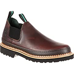 The Georgia™ GR262 Georgia Giant Romeo is a high performance shoe with superior comfort for all-day wear. Full grain leather upper. Stretchable nylon panels on each side for easy flexibility.  Two nylon pull loops for easy entry. High perform...