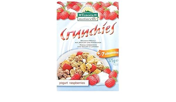 Muesli crujiente de yogur y frambuesa 375g: Amazon.es: Alimentación y bebidas